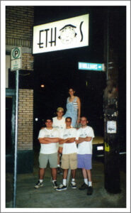 Charles Lewis with the Crew from Early Days at Ethos Music Center
