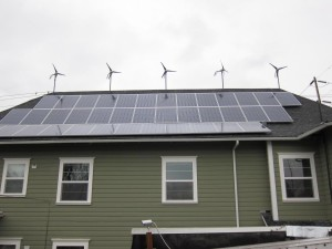 Ethos' Wind and Solar Installation